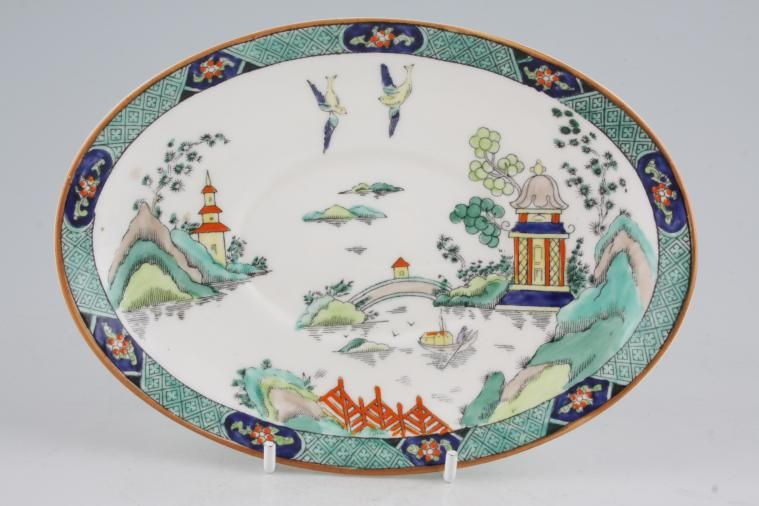 Crown Staffordshire - Chinese Willow - Sauce Boat Stand