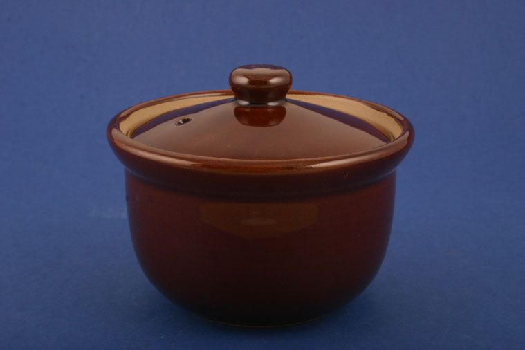 Denby - Brown Bourne - Lidded Soup - round-lidded
