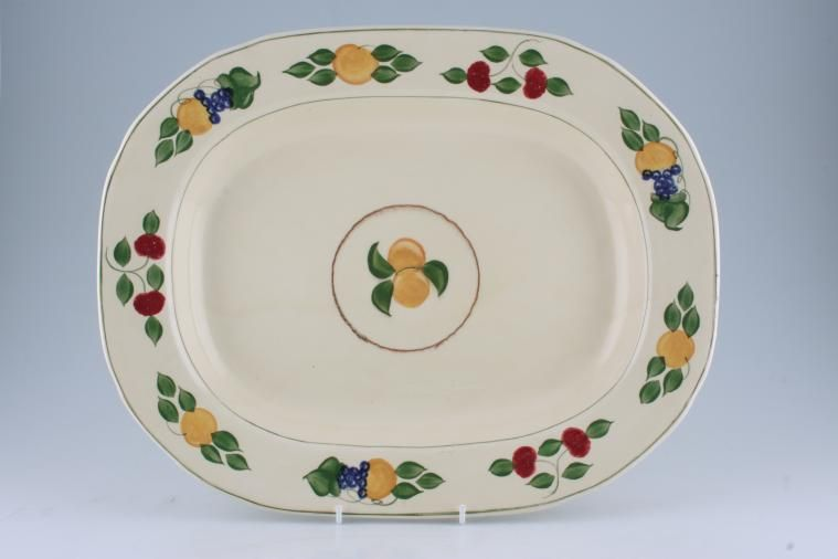 Adams - Fruit I (Titian Ware) - Oblong Plate / Platter