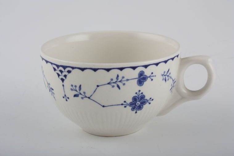 Furnivals - Denmark - Blue - Teacup - no flower inside cup- small opening in handle