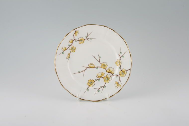Adderley - Chinese Blossom - Yellow - Tea / Side / Bread & Butter Plate