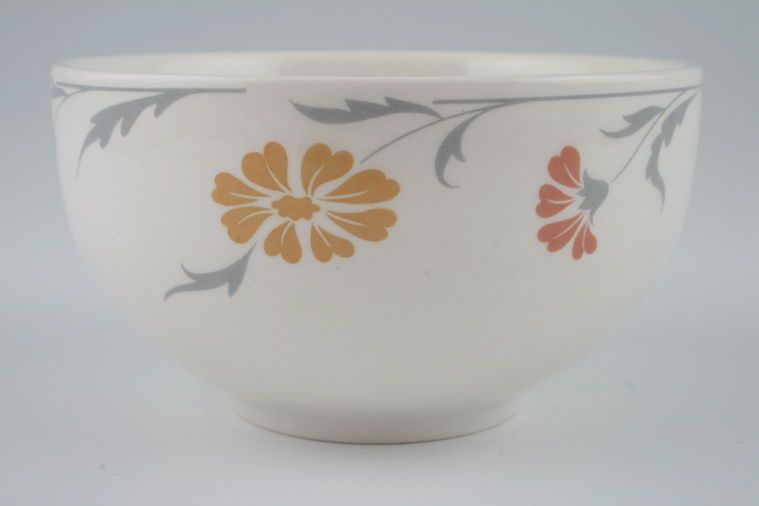 Johnson Brothers - Lugano - Orange and terracotta flowers - Sugar Bowl - Open (Tea)