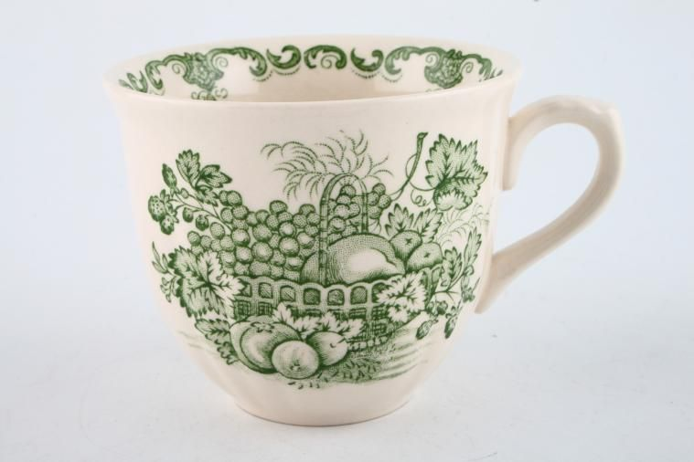 Masons - Fruit Basket - Green - Teacup - Ribbed at the bottom