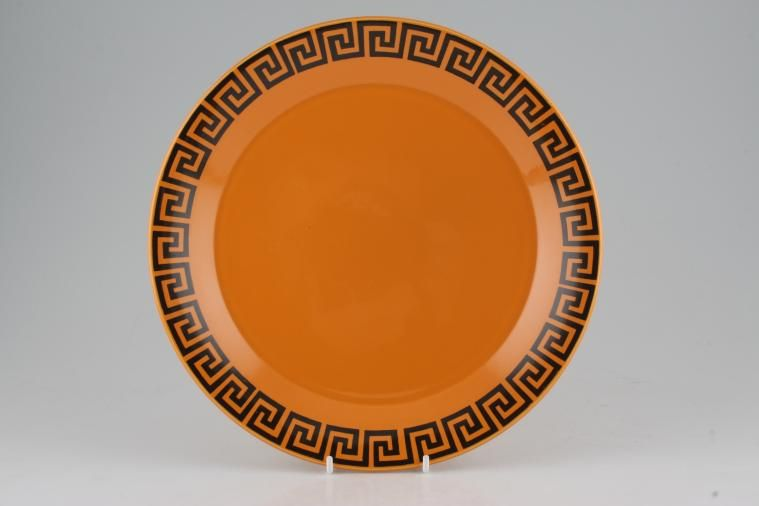 Dinner ... & Sell to us - Portmeirion - Greek Key - Orange + Black | Chinasearch