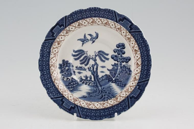 Booths - Real Old Willow - No Gold - Soup Cup Saucer