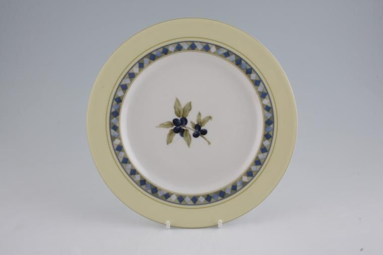 Royal Doulton - Carmina - T.C.1277 - Breakfast / Salad / Luncheon Plate - Olives