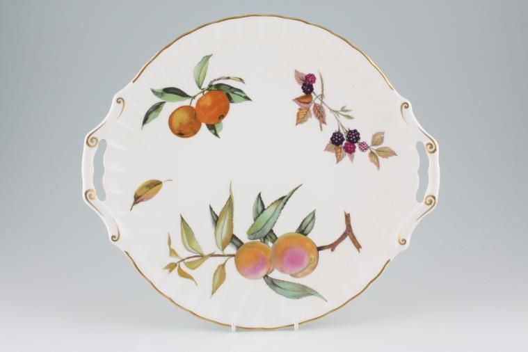 Royal Worcester - Arden - Cake Plate - Handled