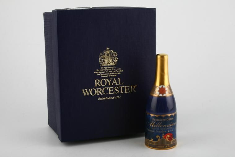 Royal Worcester - Royal Worcester - Millenium Giftware - Candle Snuffer - Champagne bottle