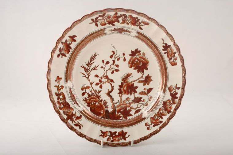 Dinner Plate & Spode Indian Tree - Terracotta - New Backstamp   If we don\u0027t have it ...
