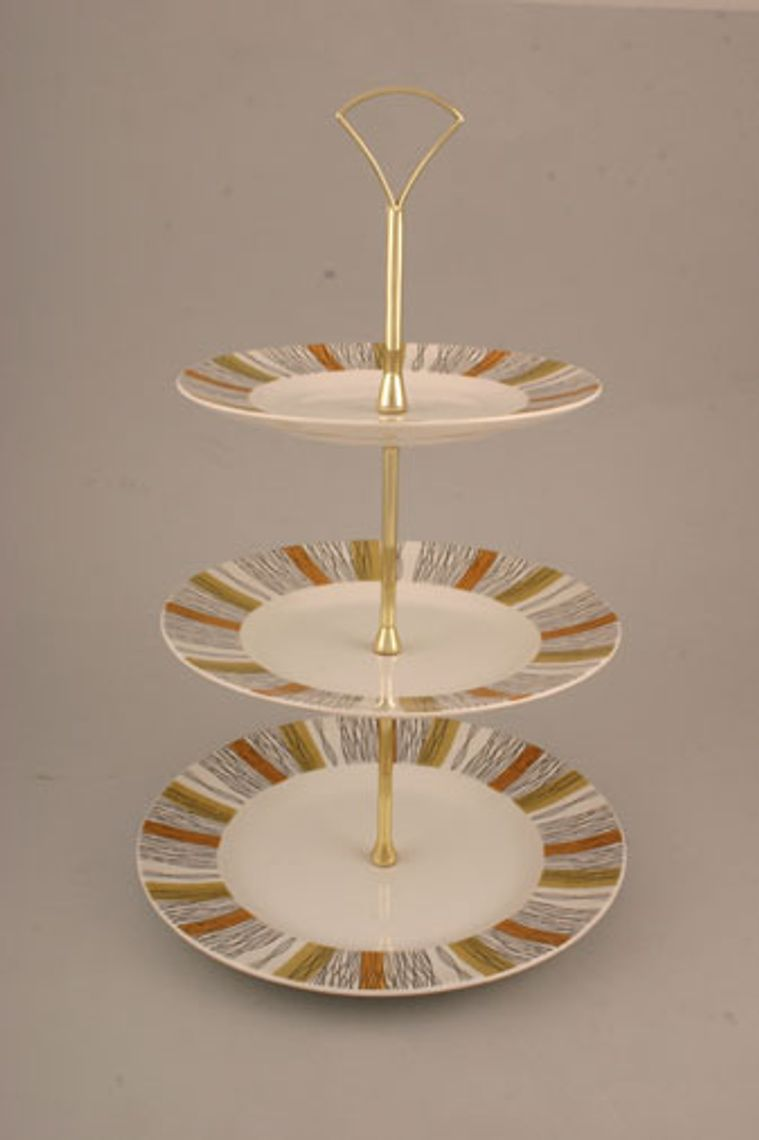 Various - Cake Stands - Cake Stand - 244 - Midwinter Sienna. Approx.8.75