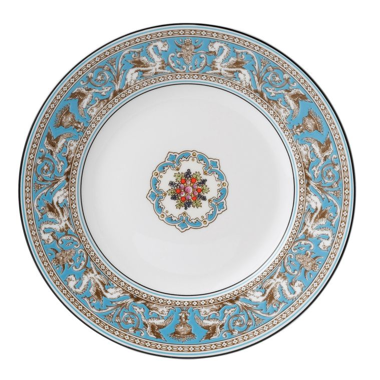 Wedgwood - Florentine - Turquoise - W2714 - Breakfast / Salad / Luncheon Plate